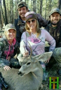 Sandra Hammon, with Matt Hammon, Tyler Hammon, and Taylor Hughes